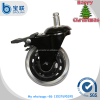 Rubber 3-inch Rollerblade style office chair caster wheel Replacement,Brake