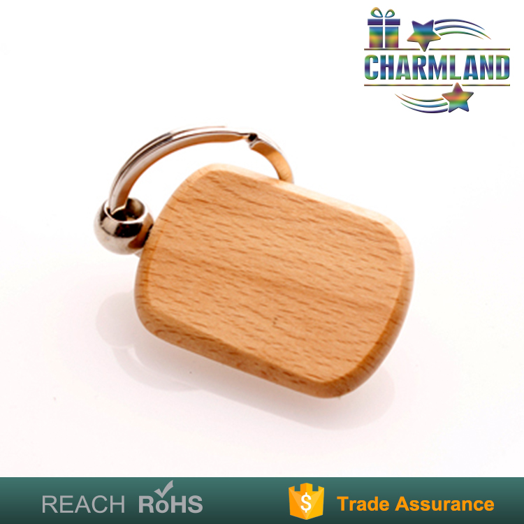 latest fashion natural wooden key chain with name
