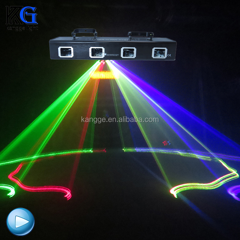 Disco Stage Lighting Four Head <strong>Laser</strong> Light Red And Green Two Color 50W <strong>Laser</strong> Four Eyes RG Color for DJ Light