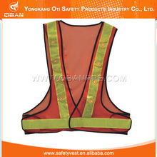 Orange Reflective led glow safety vests