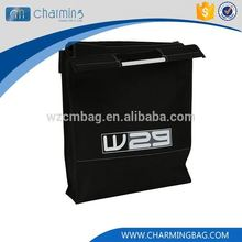 Newest selling custom design recyclable ecological promotional black non woven bag
