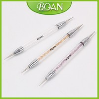 BQAN Rhinsestone Nail Artist Using Nail Art Application Double Head Nail Dotting Pen