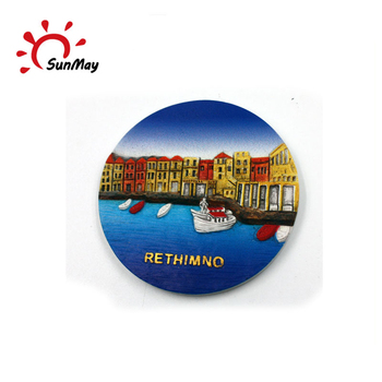 Wholesale custom ceramic Maldives souvenir plates for sale
