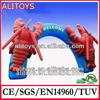 Crab welcome cheap inflatable entrance arch for advuertising