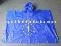 disposable plastic raincoat for men/kids