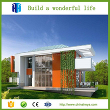 Prefabricated high rise steel structure building and luxury prefab steel villa