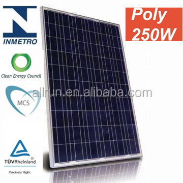 Hot sale ! promotion price high efficiency IEC TUV CE UL certificated home kits using solar system using 250w solar pv panel