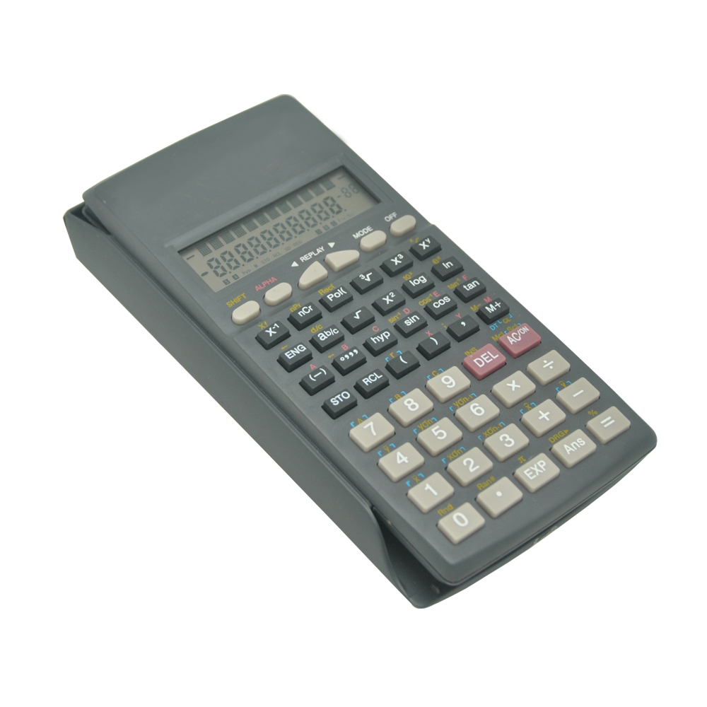 PN-2085TL Scientific Calculator, 2-line Display Function Calculator, Slide Cover Calculator