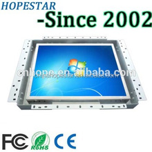 15 inch open frame monitor Resistive touch screen display embedded monitor