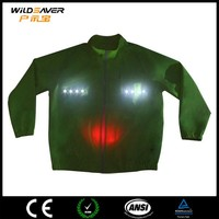 Safety flashing LED women winter jacket 2015