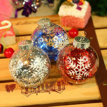 Outdoor Plastic Blowing Christmas Decorations, Large Decorating Christmas Balls/Light/Heart Cover