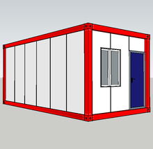 Prefabricated Flat pack container house prefab rooms