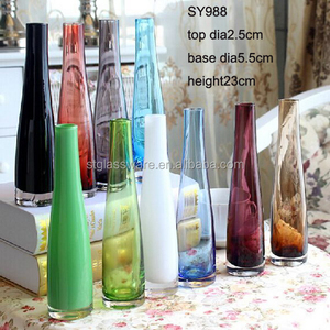 LOW MOQ OEM Mouth Blown Color Glass Vase