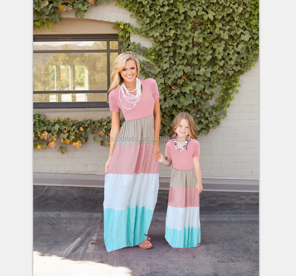Wholesale Summer Maxies For Babies Online Buy Best Mom N Bab Sleeveless Shirt Pink Stripe Mother Daughter Dress Strongbaby Strong Evening Beach Kids
