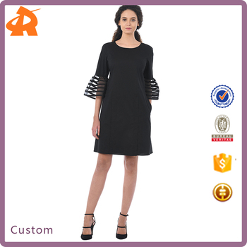 customize your own summer dress,fashional female black dress in china