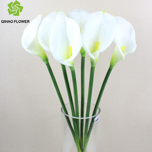 Convey artificial flower PU calla lily with one flower for indoor decoration