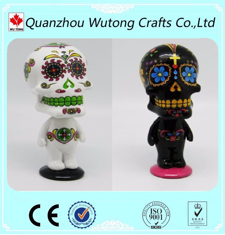 Custom Various Festival Carton Figures Hallowas Skull Bobble Head