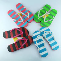 Hot Sale Top Quality streak design flip flop wholesale bangkok