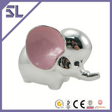 Custom Made Pink Big Ear Elephant Metal Money Box Wedding Gift Supplier In China