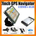 7inch Wince 6.0 Multimedea Car GPS Navigation with Built in 4GB and Free GPS Maps