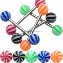 Wholesale Fashion Colorful Tongue Piercing Barbell