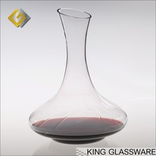 Mouth blown handmade classical antique glass 1800ml pewter wine decanter