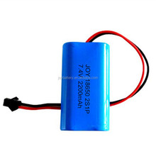 18650 2S1P 7.4V 2200mAh rechargeable Li ion battery pack with PCB