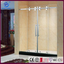2 slliding doors new frameless Shower Screen 5112