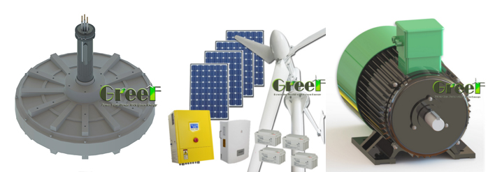 GREEF 500W vertical axis wind turbine for home use
