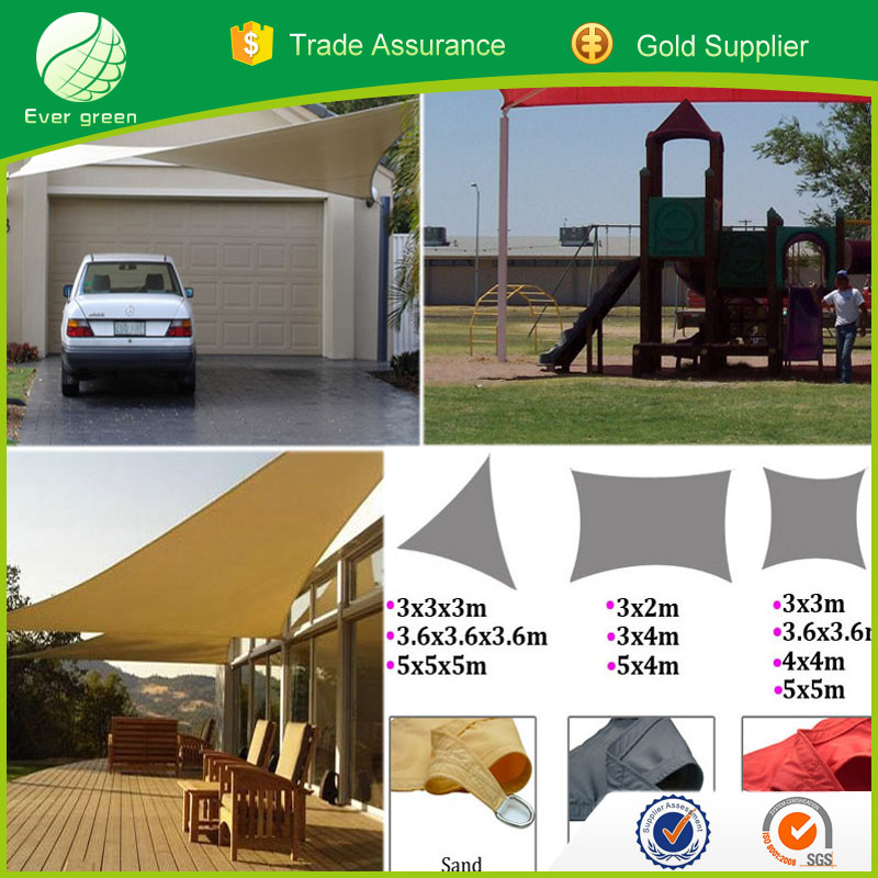 Evergreen factory sail shades red sun shade sail roof shade sail