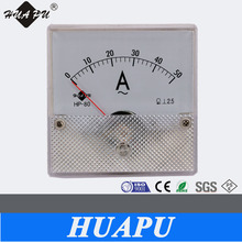 Moving Coil Rectangular Analog panel ampere meter AC Ammeter AC50A 80*80mm manufacturer