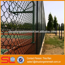 Hebei 50x50cm powder coated chain link fence/wire metal security fence