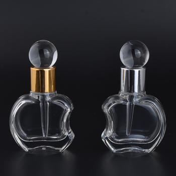 Hot selling wedding gifts 10ml apple shaped refillable perfume glass bottles for essential oil packaging