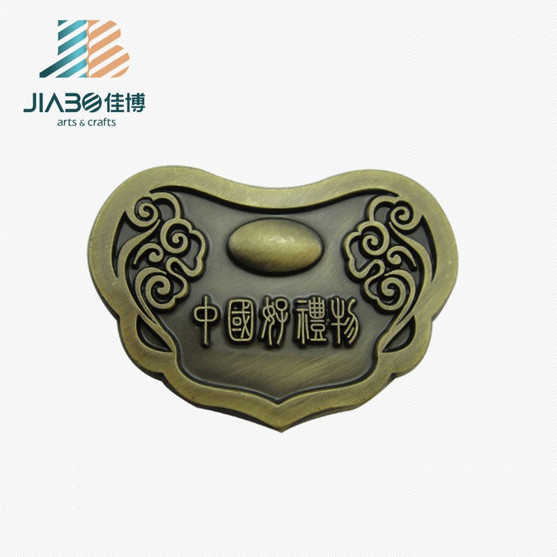 custom made cheap price bronze 3d effect metal logo shoelace charm