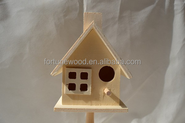 Cute design wood bird house