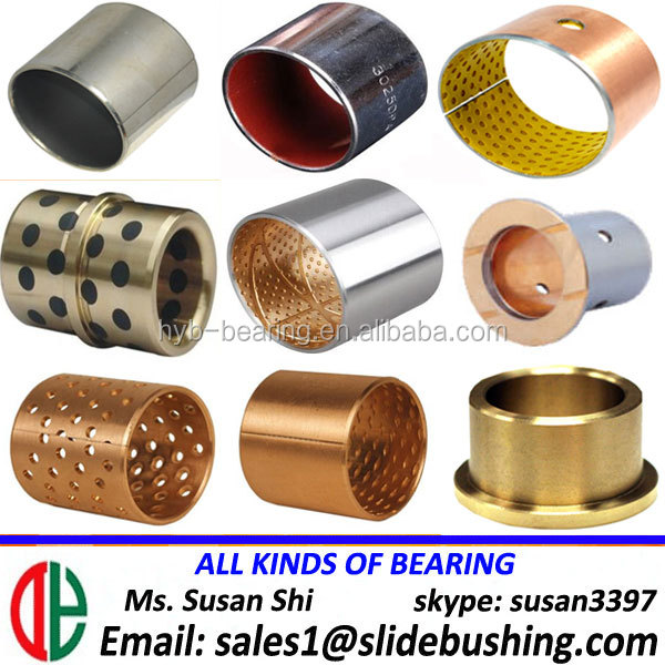 cnc steel parts coating deep drawing bushes material for chain/hardened steel bushing stock ptfe filled bush