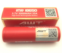 China supplier 18650 battery 35a awt 18650 battery 3000mah 3.7v mechanical mod 18650 battery for disposable e-cigarette empty
