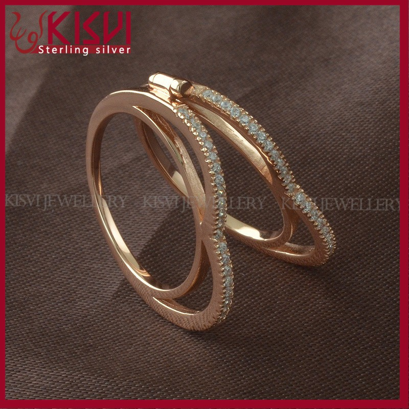 jewel silver 925 couple rings 14k gold with low price