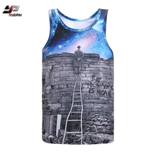2018 new design custom printing breathable mens summer tank top