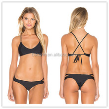 OEM high quality micro black brazilian bikini swimwear sexi open bikini