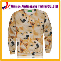 3d sublimation all over print winter for men hoodies DOGE/dog