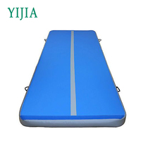 Excellent quality double wall fabric blue inflatable air track for sale