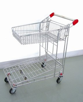 Usabale durable 200kgs heavey-duty shopping cargo trolley
