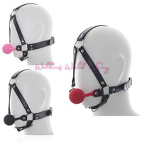 Se Products Leather Mask Harness With Silicone Ball Gag Harness Fetish Bondage Se Mask Adult Erotic Toys For Couple Flirting