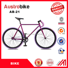 700C colorful fixie fixed gear bike single speed fixie bikes Drop Handle Bar Fixed Gear Bike purple color