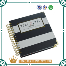 Wholesale customization thick A5 wire-o spiral notebook