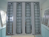 hospital used T5 4*14W grille light fluorescent fitting
