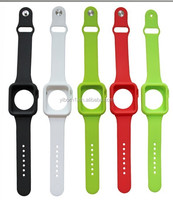 Waterproof Silicone Watch Band Wrist Strap Case Cover For apple watch