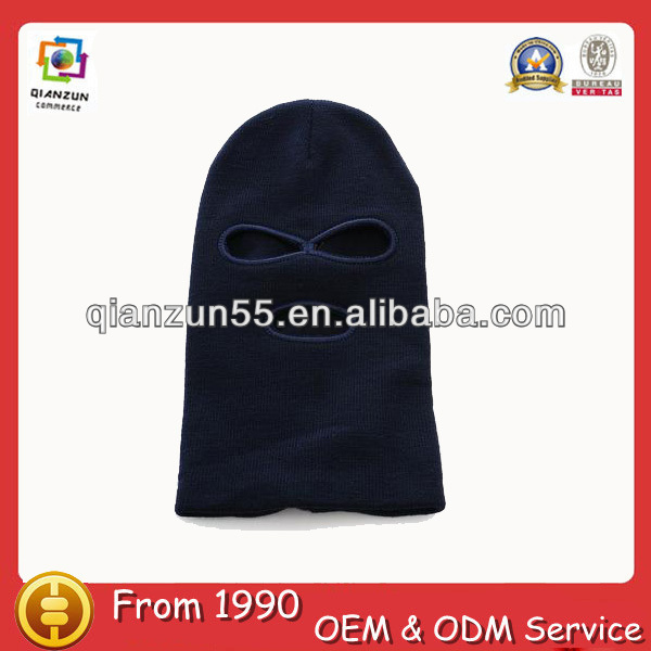 Solid black novelty spiderman knitted cheap funny winter knitted black ski mask hat knitting pattern