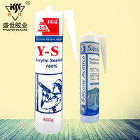 Weather proof acrylic silicon rubber adhesive sealant/Acrylic Silicone Sealant